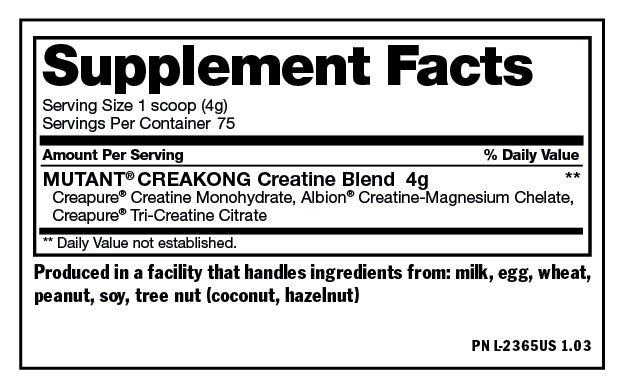 Creatine Mutant Creakong - 300 GAMS - 75 SERVINGS