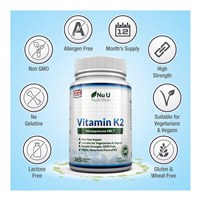 Vitamin K2 MK7 200 mcg 365 viên Nuu Nutrtition